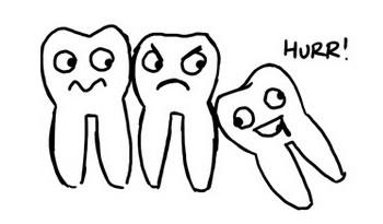 """Siso """"empurrando"""" os outros dentes"""