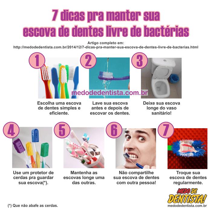 7 dicas pra manter sua escova de dentes livre de bactérias