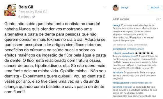 Bela Gil no Instagram