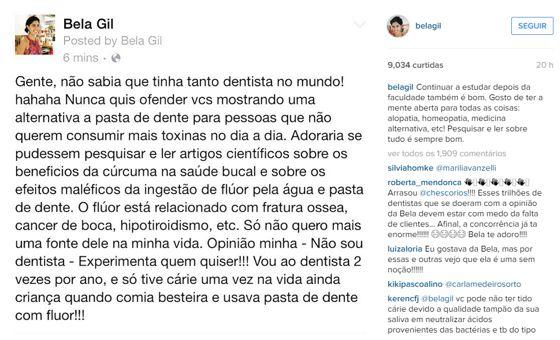 Bela Gil no Instagram